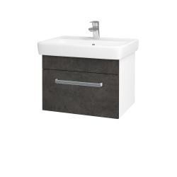 Dreja - Kúpeľňová skriňa Q UNO SZZ 60 - N01 Bílá lesk / Úchytka T01 / D16 Beton tmavý (208523A)