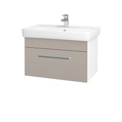 Dreja - Kúpeľňová skriňa Q UNO SZZ 70 - N01 Bílá lesk / Úchytka T01 / N07 Stone (208783A)