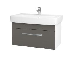 Dreja - Kúpeľňová skriňa Q UNO SZZ 80 - N01 Bílá lesk / Úchytka T03 / N06 Lava (208974C)