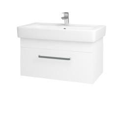 Dreja - Kúpeľňová skriňa Q UNO SZZ 80 - N01 Bílá lesk / Úchytka T01 / M01 Bílá mat (208943A)