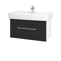 Dreja - Kúpeľňová skriňa Q UNO SZZ 80 - N01 Bílá lesk / Úchytka T02 / N03 Graphite (208967B)