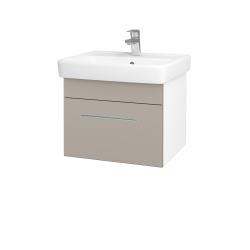 Dreja - Kúpeľňová skriňa Q UNO SZZ 55 - N01 Bílá lesk / Úchytka T02 / N07 Stone (208387B)