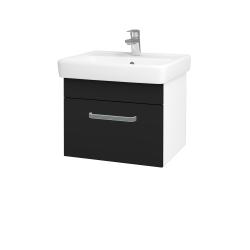 Dreja - Kúpeľňová skriňa Q UNO SZZ 55 - N01 Bílá lesk / Úchytka T01 / N08 Cosmo (208394A)
