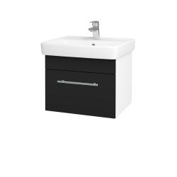 Dreja - Kúpeľňová skriňa Q UNO SZZ 55 - N01 Bílá lesk / Úchytka T02 / N08 Cosmo (208394B)