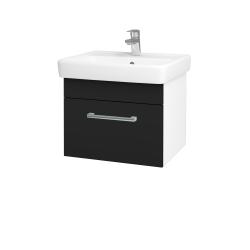 Dreja - Kúpeľňová skriňa Q UNO SZZ 55 - N01 Bílá lesk / Úchytka T03 / N08 Cosmo (208394C)