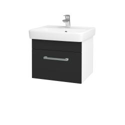 Dreja - Kúpeľňová skriňa Q UNO SZZ 55 - N01 Bílá lesk / Úchytka T03 / N03 Graphite (208363C)