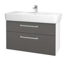 Dreja - Kúpeľňová skriňa Q MAX SZZ2 100 - N01 Bílá lesk / Úchytka T03 / N06 Lava (198855C)