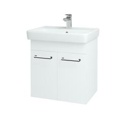 Dreja - Kúpeľňová skriňa Q DVEROVÉ SZD2 60 - N01 Bílá lesk / Úchytka T03 / L01 Bílá vysoký lesk (12734C)