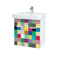 Dreja - Kúpeľňová skriňa Q DVEROVÉ SZD2 60 - N01 Bílá lesk / Úchytka T01 / IND Individual (20494A)