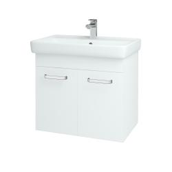 Dreja - Kúpeľňová skriňa Q DVEROVÉ SZD2 70 - N01 Bílá lesk / Úchytka T01 / L01 Bílá vysoký lesk (12635A)