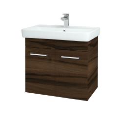 Dreja - Kúpeľňová skriňa Q DVEROVÉ SZD2 70 - D06 Ořech / Úchytka T03 / D06 Ořech (20586C)