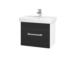Dreja - Kúpeľňová skriňa SOLO SZZ 55 - N01 Bílá lesk / Úchytka T03 / N03 Graphite (205560C)