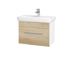 Dreja - Kúpeľňová skriňa SOLO SZZ 60 - N01 Bílá lesk / Úchytka T01 / D15 Nebraska (205713A)