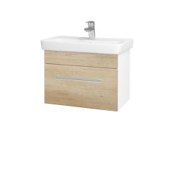 Dreja - Kúpeľňová skriňa SOLO SZZ 60 - N01 Bílá lesk / Úchytka T03 / D15 Nebraska (205713C)