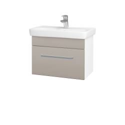 Dreja - Kúpeľňová skriňa SOLO SZZ 60 - N01 Bílá lesk / Úchytka T01 / N07 Stone (205775A)