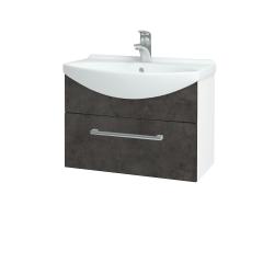 Dreja - Kúpeľňová skriňa TAKE IT SZZ 65 - N01 Bílá lesk / Úchytka T03 / D16 Beton tmavý (206703C)