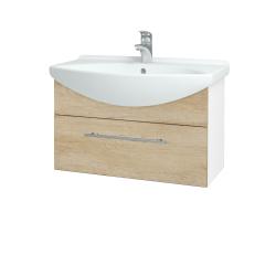 Dreja - Kúpeľňová skriňa TAKE IT SZZ 75 - N01 Bílá lesk / Úchytka T02 / D15 Nebraska (206857B)