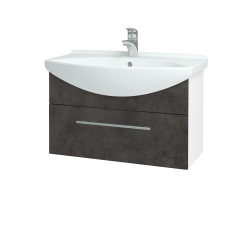 Dreja - Kúpeľňová skriňa TAKE IT SZZ 75 - N01 Bílá lesk / Úchytka T02 / D16 Beton tmavý (206864B)