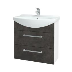 Dreja - Kúpeľňová skriňa TAKE IT SZZ2 75 - N01 Bílá lesk / Úchytka T03 / D16 Beton tmavý (207663C)