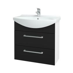 Dreja - Kúpeľňová skriňa TAKE IT SZZ2 75 - N01 Bílá lesk / Úchytka T03 / N08 Cosmo (207717C)