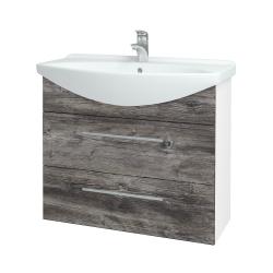 Dreja - Kúpeľňová skriňa TAKE IT SZZ2 85 - N01 Bílá lesk / Úchytka T02 / D10 Borovice Jackson (207809B)