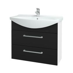 Dreja - Kúpeľňová skriňa TAKE IT SZZ2 85 - N01 Bílá lesk / Úchytka T03 / N08 Cosmo (207878C)