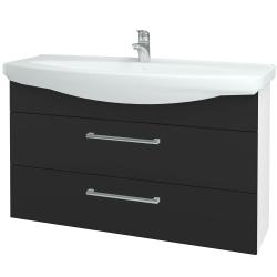 Dreja - Kúpeľňová skriňa TAKE IT SZZ2 120 - N01 Bílá lesk / Úchytka T03 / N03 Graphite (208165C)