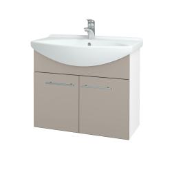 Dreja - Kúpeľňová skriňa TAKE IT SZD2 75 - N01 Bílá lesk / Úchytka T02 / N07 Stone (206109B)