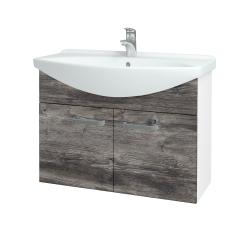 Dreja - Kúpeľňová skriňa TAKE IT SZD2 85 - N01 Bílá lesk / Úchytka T01 / D10 Borovice Jackson (206208A)