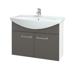 Dreja - Kúpeľňová skriňa TAKE IT SZD2 85 - N01 Bílá lesk / Úchytka T03 / N06 Lava (206253C)
