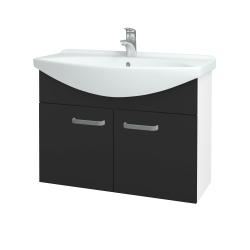 Dreja - Kúpeľňová skriňa TAKE IT SZD2 85 - N01 Bílá lesk / Úchytka T01 / N03 Graphite (206246A)