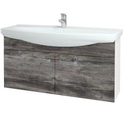 Dreja - Kúpeľňová skriňa TAKE IT SZD2 120 - N01 Bílá lesk / Úchytka T01 / D10 Borovice Jackson (206529A)