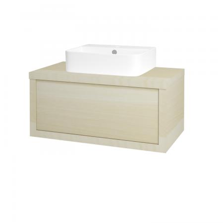 Dreja - Kúpeľňová skriňa STORM SZZ 80 (umývadlo JOY 3) - D02 Bříza / D02 Bříza (217549)