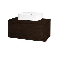 Dreja - Kúpeľňová skriňa STORM SZZ 80 (umývadlo JOY 3) - D08 Wenge / D08 Wenge (217594)