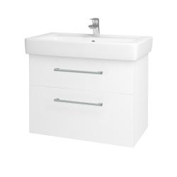 Dreja - Kúpeľňová skriňa Q MAX SZZ2 80 - N01 Bílá lesk / Úchytka T03 / M01 Bílá mat (198633C)