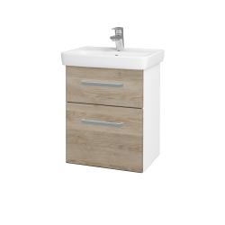 Dreja - Kúpeľňová skriňa GO SZZ2 50 - N01 Bílá lesk / Úchytka T01 / D17 Colorado (204518A)