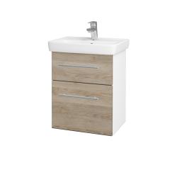 Dreja - Kúpeľňová skriňa GO SZZ2 50 - N01 Bílá lesk / Úchytka T02 / D17 Colorado (204518B)
