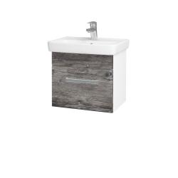 Dreja - Kúpeľňová skriňa SOLO SZZ 50 - N01 Bílá lesk / Úchytka T01 / D10 Borovice Jackson (205300A)