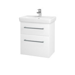 Dreja - Kúpeľňová skriňa GO SZZ2 55 - N01 Bílá lesk / Úchytka T03 / M01 Bílá mat (247195C)