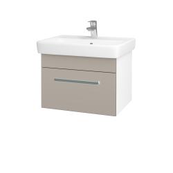 Dreja - Kúpeľňová skriňa Q UNO SZZ 60 - N01 Bílá lesk / Úchytka T01 / N07 Stone (208585A)