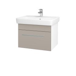 Dreja - Kúpeľňová skriňa Q UNO SZZ 60 - N01 Bílá lesk / Úchytka T02 / N07 Stone (208585B)