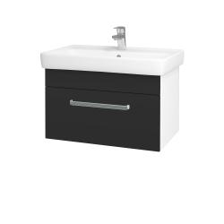 Dreja - Kúpeľňová skriňa Q UNO SZZ 70 - N01 Bílá lesk / Úchytka T01 / N03 Graphite (208769A)