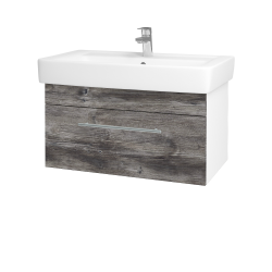 Dreja - Kúpeľňová skriňa Q UNO SZZ 80 - N01 Bílá lesk / Úchytka T02 / D10 Borovice Jackson (208905B)