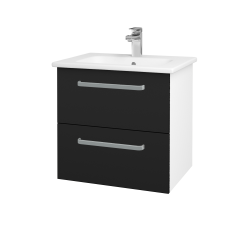Dreja - Kúpeľňová skriňa GIO SZZ2 60 - N01 Bílá lesk / Úchytka T01 / N08 Cosmo (202095A)