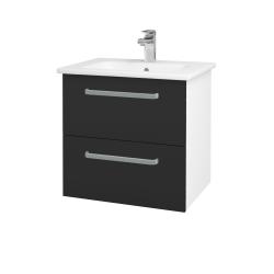 Dreja - Kúpeľňová skriňa GIO SZZ2 60 - N01 Bílá lesk / Úchytka T01 / N03 Graphite (202064A)
