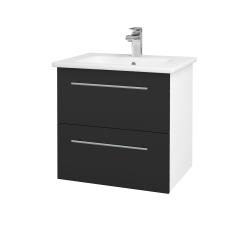 Dreja - Kúpeľňová skriňa GIO SZZ2 60 - N01 Bílá lesk / Úchytka T02 / N03 Graphite (202064B)
