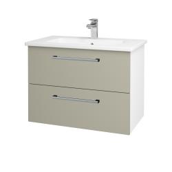 Dreja - Kúpeľňová skriňa GIO SZZ2 80 - N01 Bílá lesk / Úchytka T03 / M05 Béžová mat (202217C)