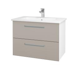 Dreja - Kúpeľňová skriňa GIO SZZ2 80 - N01 Bílá lesk / Úchytka T01 / N07 Stone (202248A)