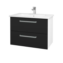 Dreja - Kúpeľňová skriňa GIO SZZ2 80 - N01 Bílá lesk / Úchytka T01 / N08 Cosmo (202255A)