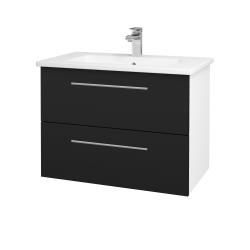 Dreja - Kúpeľňová skriňa GIO SZZ2 80 - N01 Bílá lesk / Úchytka T02 / N08 Cosmo (202255B)
